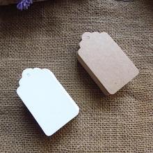 Free shipping Wholesale Brown Kraft Paper Wedding Tags Luggage DIY Blank price Gift Hang tag 100pcs