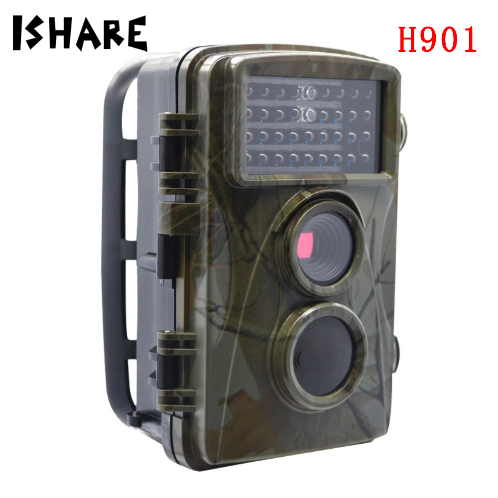 цена H901 HD 12MP Wildlife Trail Hunting Camera Night Vision Sensor Waterproof Photo Trap Observation Recorder Surveillance Cameras