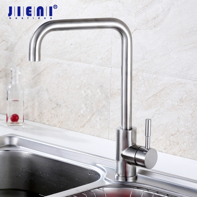 Brushed Nickel Kitchen Sink Swivel 360 brushed nickel kitchen basin faucet deck mounted kitchen sink bar rotated faucet basin mixer tap in kitchen faucets from home improvement swivel 360 brushed nickel kitchen basin faucet deck mounted kitchen sink bar rotated faucet basin mixer wo