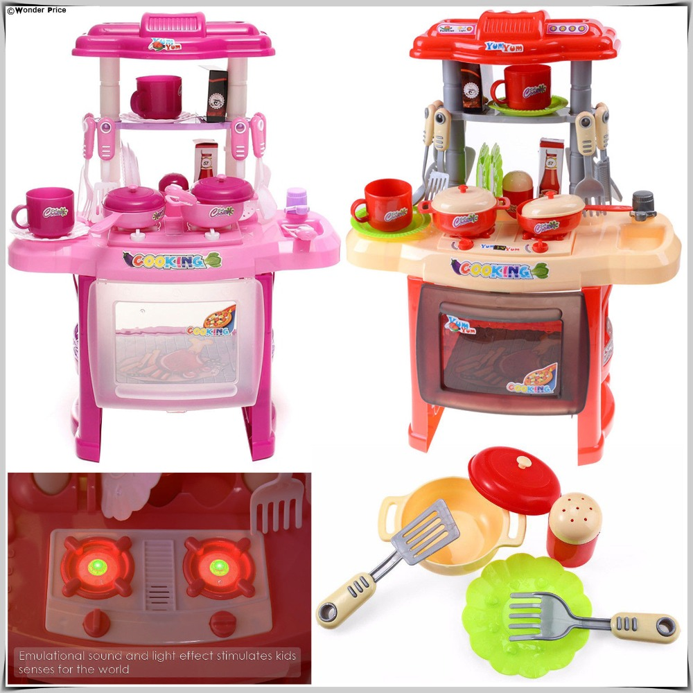 US $20.43 26% OFF|New Kids Kitchen Set Children Kitchen Toys Large Kitchen  Cooking Simulation Model Colourful Play Educational Toy for Girl Baby-in ...