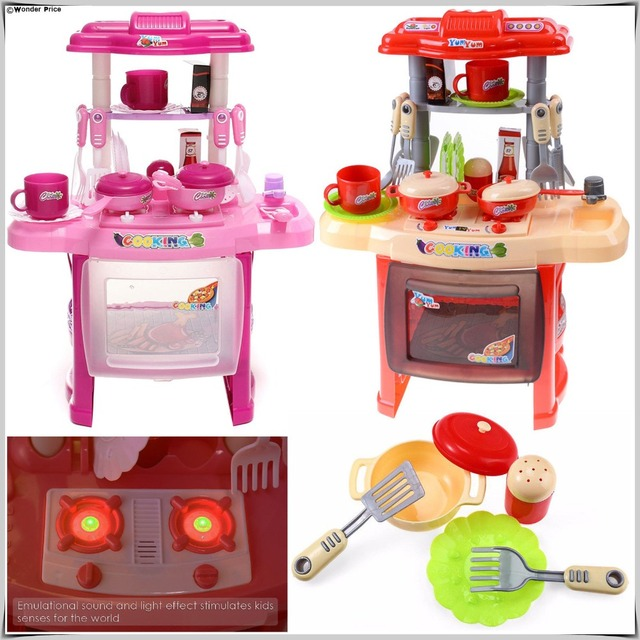 5b7faf6ae4d New Kids Kitchen Set Children Kitchen Toys Large Kitchen Cooking Simulation  Model Colourful Play Educational Toy for Girl Baby