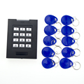Door Access Control system ID keypad with 10 pieces RFID Key Fobs