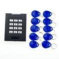 Sistema de IDENTIFICACIÓN de teclado puerta de Control de Acceso con 10 unidades RFID Fobs Clave