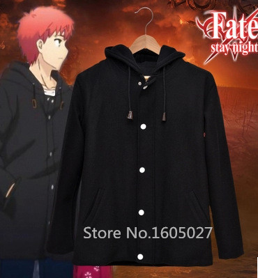 Fate Stay Night Emiya Shirou Dust Coat Party Uniform Cosplay Anime Jackets Costume M 2XL Free Shipping NEW