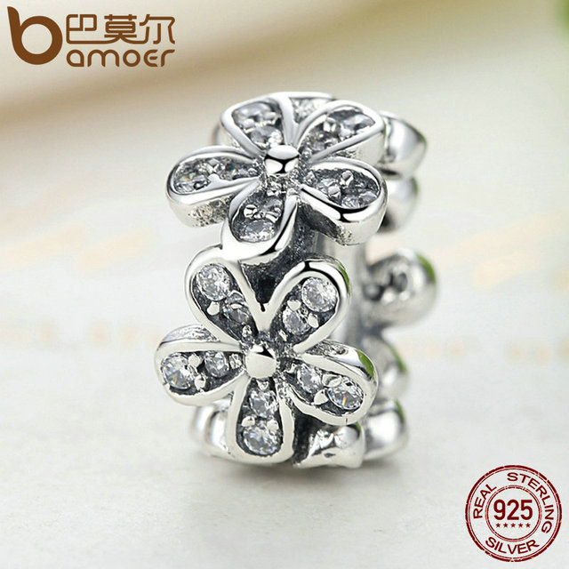 Sterling Silver Dazzling Daisies Flower Charm