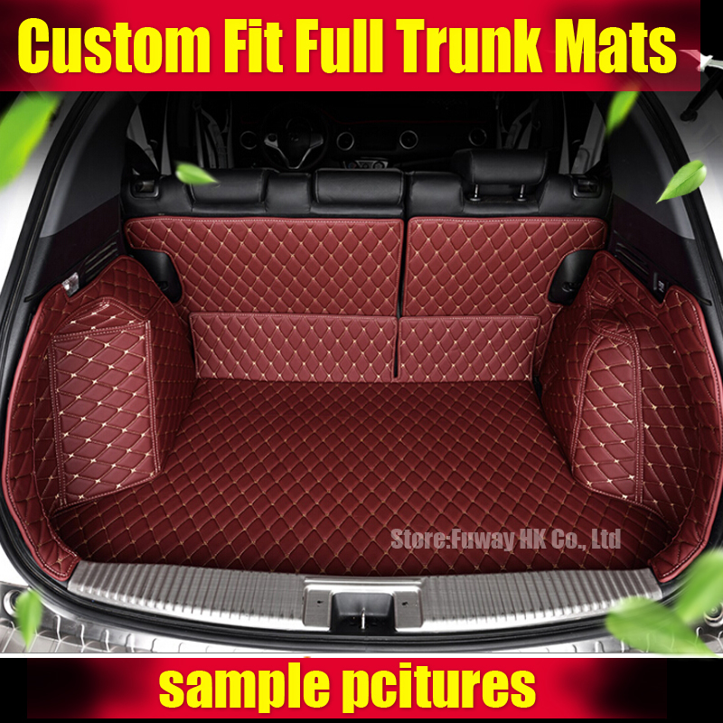 Good carpets! Special car trunk mats for Jeep Wrangler 2015 durable waterproof boot carpets for Wrangler 2014-2010,Free shipping dedicated no odor carpets waterproof non slip durable rubber car trunk mats for toyotafj cruiser