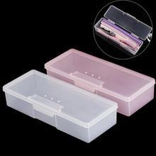 Strumento per Nail Art spazzole per lime per unghie scatola di immagazzinaggio forniture contenitore spintori per cuticole organizzatore custodia vuota rosa/bianco