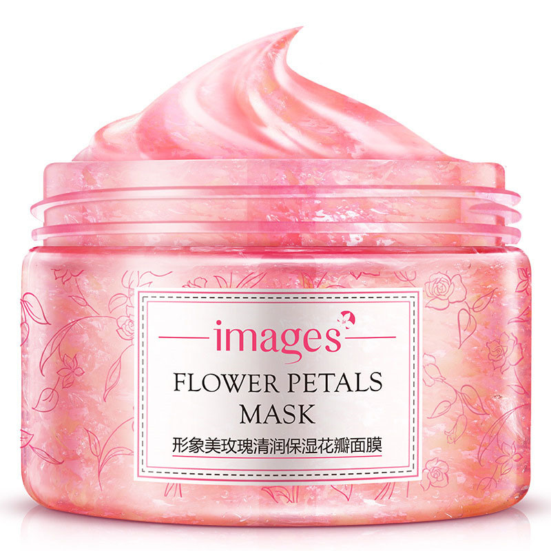 Images Flower Petals Sleeping Mask Cream No Wash Moisturizing Night Cream Anti Aging Anti Wrinkle Nutrition Face Cream