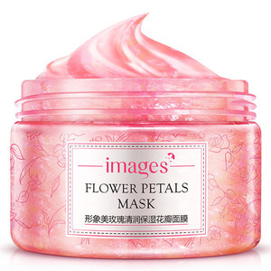 Image 1 - Images Flower Petals Sleeping Mask Cream No Wash Moisturizing Night Cream Anti Aging Anti Wrinkle Nutrition Face Cream
