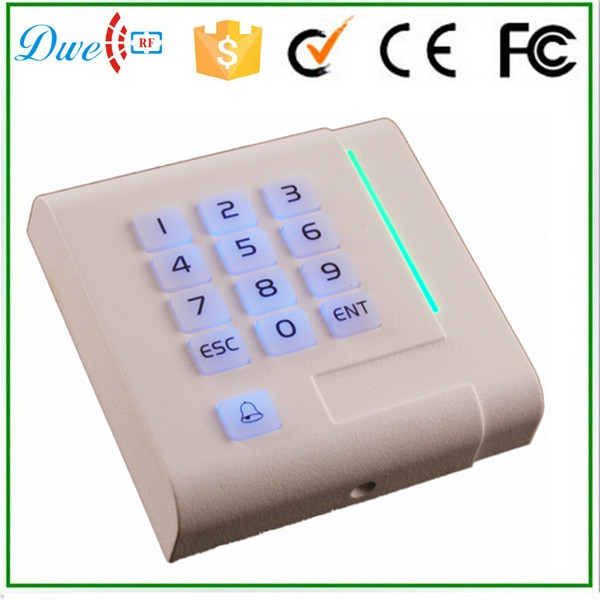 DWE CC RF 2016 new keypad backlight contactless 13.56mhz MF proximity wiegand 34 passive rfid smart card reader dwe cc rf rfid card reader 125khz emid or 13 56mhz mf wiegand 26 backlight keypad reader for access control system 002p