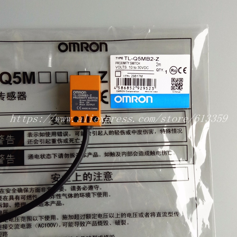medium resolution of 5pcs tl q5mb2 z pnp nc omron proximity switch inductive sensor 3 wire 10 30vdc in sensors from electronic components supplies on aliexpress com alibaba