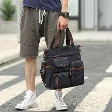 2019 New Fashion Vintage Men Canvas Handbags High Quality Shoulder Bags Male Big Capacity Messenger