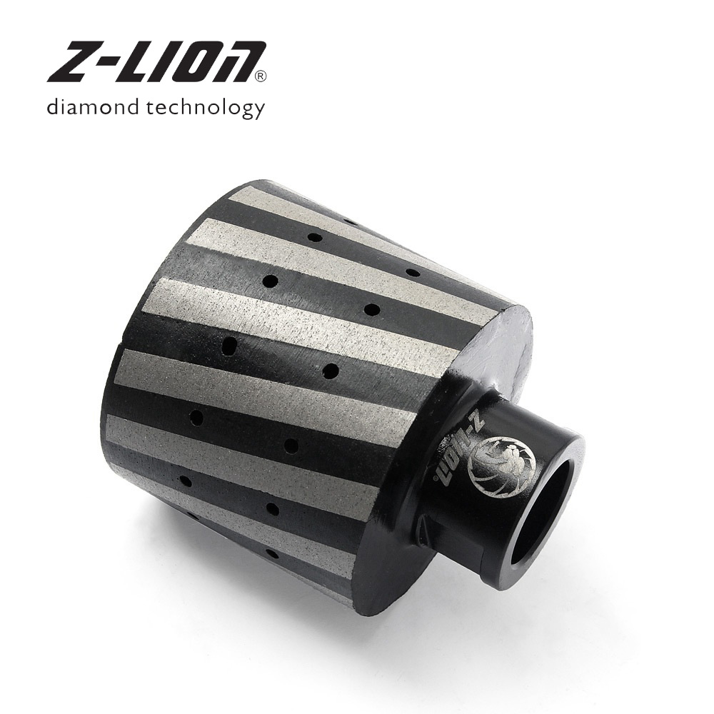 Z-LION Diamond Drum Wheel Resin Filled Hole Grinding Tool 2 Inch 1piece Granite Marble Stone Sanding Wheel 5/8-11 4 inch 100mm 5 8 11 m14 arbor thread resin filled diamond sanding grinding disc cup wheel for stone concrete marble granite