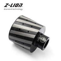 Z LION Diamond Drum Wheel Resin Filled Hole Grinding Tool 2 Inch 1piece Granite Marble Stone Sanding Wheel 5/8 11