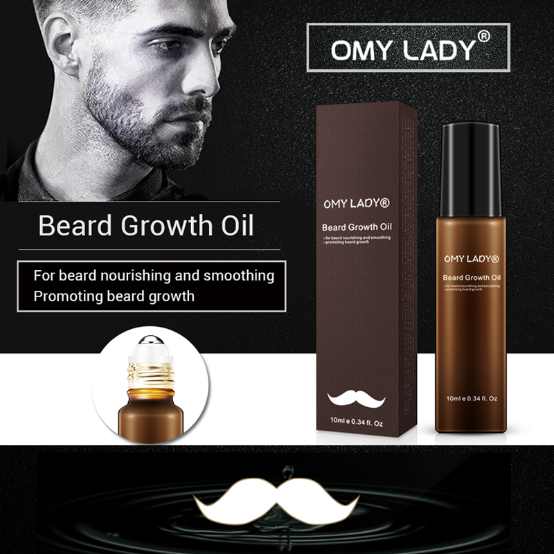 OMY LADY 100 Natural Organic Men Beard Growth Oil Beard Wax balm Hair Loss Product Plant based for Groomed Beard Growth Essence in Hair Loss Products from Beauty Health