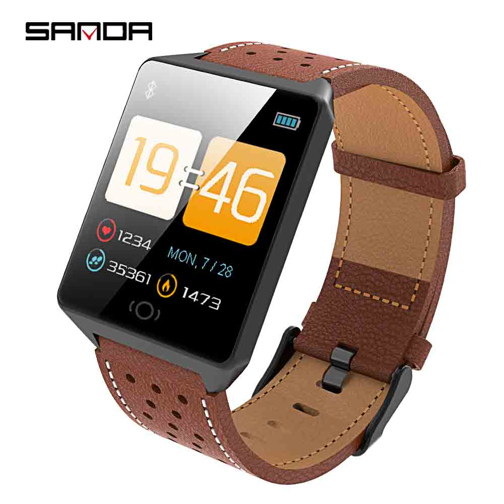 SANDA Smart Watch for IOS Android Men Bluetooth Sport Watches Women Health Bracelet Wristwatch Blood Pressure