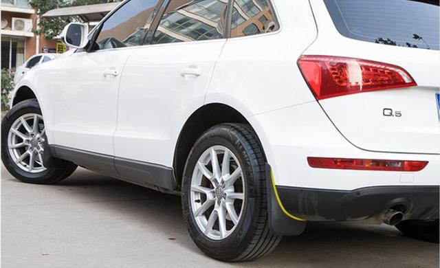 Black Mud Flaps Splash Guards Fenders Mudguards 4Pcs For Audi Q5 2010 2011 2012 2013 2014 2015 ...