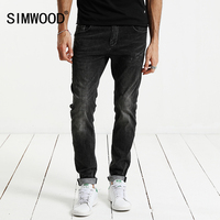 SIMWOOD 2017 Spring Summer Jeans Men Fashion Slim Fit Enzyme Wash Denim Trousers Plus Size Brand