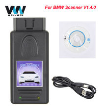 Voor Bmw V1.4.0 Obd OBD2 Auto Scanner Auto Diagnostische Tool Ftdi FT232RL Automotive Unlocked Versie 1.4.0 Voor Bmw Codering Reader