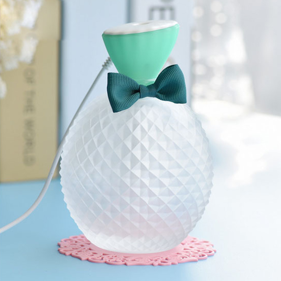 Cute Style Crystal Air Humidifier Mini USB Air Humidifier Mist Maker 300ML Aroma Essential Oil Diffuser Aromatherapy for home usb mini humidifier air humidifier aroma diffuser essential oil diffuser humidifier atomizer mist maker home carry