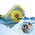 Crianças Mini Câmera digital Brinquedos Educação crianças brinquedo câmera digital com tampa à prova d' água adesivos DIY Presente de Aniversário