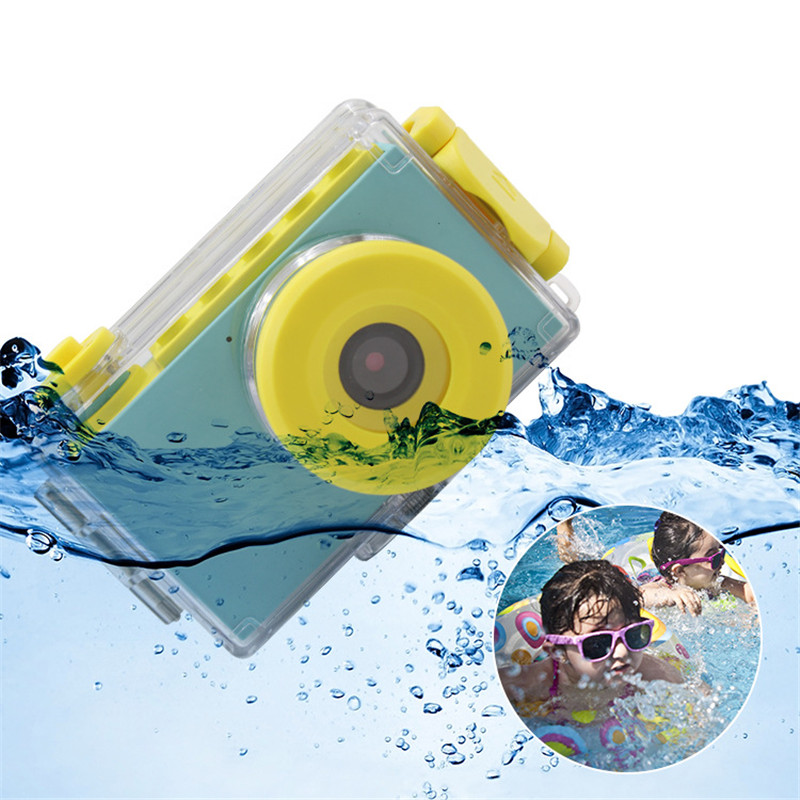 Enfants Mini appareil photo numérique jouets enfants éducation jouet appareil photo numérique avec couverture étanche autocollants faciles à poser cadeau d'anniversaire
