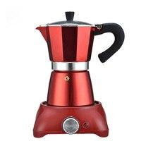 240ml Kaffee Maker Aluminium Kaffee Maschine Elektrische Heizung Herd Kaffeekanne Espresso Mokka Topf Herd Espresso Wasserkocher-in Kaffee-und Espressomaschinen aus Haushaltsgeräte bei