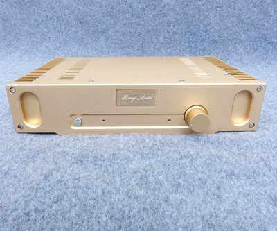 Золотой/Серебряный 1969 полностью алюминиевый корпус усилителя/корпус усилителя класса A/корпус усилителя/корпус/коробка DIY (336*75*208 мм)