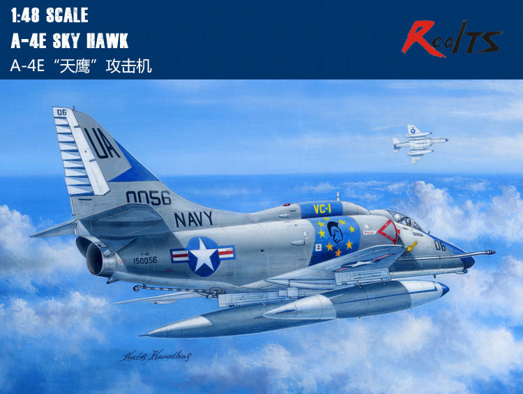 RealTS Hobbyboss 81764 1/48 A-4E Sky Hawk plastic model Aircraft kit hobby boss 1pcs action figures kids gift collection for hobbyboss 1 48 81736 hawk t mk 127