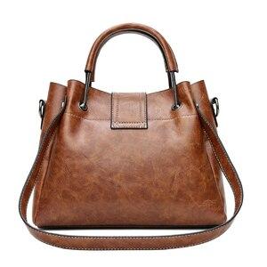Image 4 - Yeni 2018 kadın askılı çanta Vintage omuzdan askili çanta kadın çanta tasarımcısı yüksek kaliteli PU deri bayan çanta ana kesesi