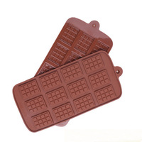 12 Even Chocolate Mold Silicone Cake Decoration Tools Kitchen Baking Accessories Mold Fondant Molds DIY Candy Bar Mould