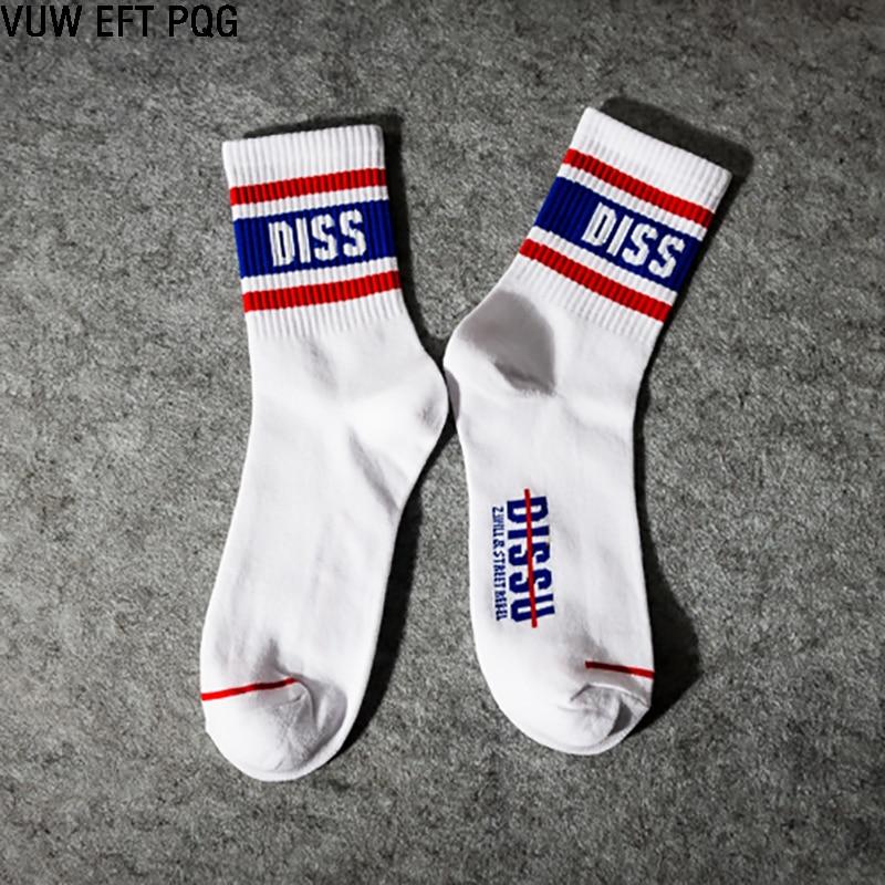 Fashion men women   socks   street good quality white style   sock   rock roll hip hop boy girl cotton long brand new 1Pairs/a Lot