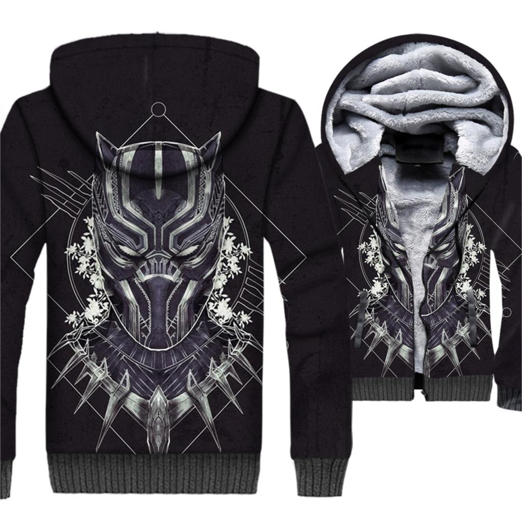 man's jackets coats men brand tracksuits fashion 3D print hoodies Superhero Black panther 2019 winter brand clothing sweatshirts