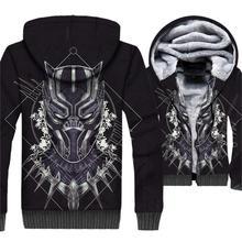 mans jackets coats men brand tracksuits fashion 3D print hoodies Superhero Black panther 2019 winter clothing sweatshirts