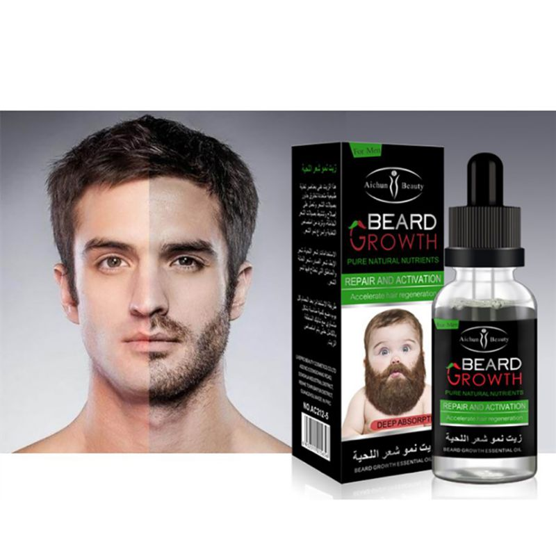 USA Shipping Organic Beard Growth Liquid Essential Oil Men Beard Care Liquid For Beard Growth 40ml