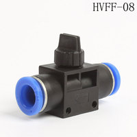 30Pcs HVFF 8mm To 8mm Tube Push In Quick Fitting With Switch Mini Hand Air Flow Control Valve Coupler ,HVFF-08 PHV-08 HVFF-8