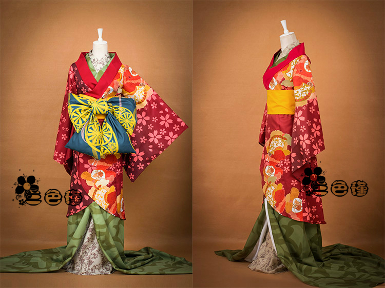 Yukimura Costume Livraison Chizuru Uniformes Cosplay Geisha Taille Gratuite Kimono Hakuouki Version Personnalisée 0Nmnyv8wO