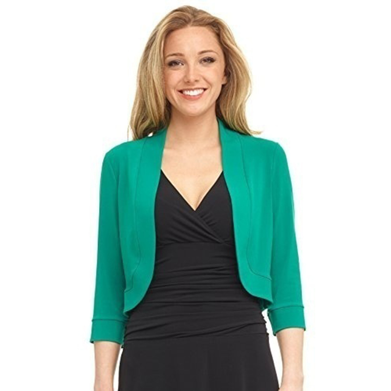 Image 4 - Women Blazers Suit Women Fashion Casual Short Blazers Solid Office Lady Coat Jacket Tops Suit Women ClothingBlazers   -