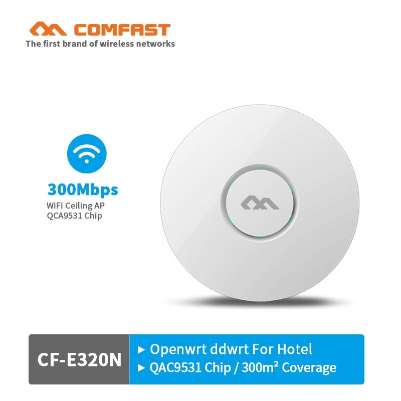 Беспроводная точка доступа 300 Мбит/с, потолочный Wi-Fi роутер, Wi-Fi ретранслятор, удлинитель высокой мощности с антенной 6dBi, поддержка PoE openwrt