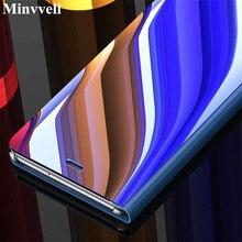 Espelho inteligente caso da aleta para xiaomi redmi 4x 5 plus nota 4x 3 5 pro 5x 5a a1 a2 6 6a s2 8 se mix 2 max 3 telefone capa protetora