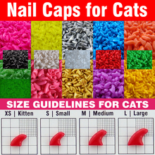 20pcs / set Soft Nail Caps for Cats + Adhesive Glue + Aplicator /* XS, S, M, L, paw, claw*/