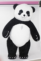 New Style Inflatable Panda Costume Inflatable Panda For Advertising 3M Tall Customize For Adult Suitable For