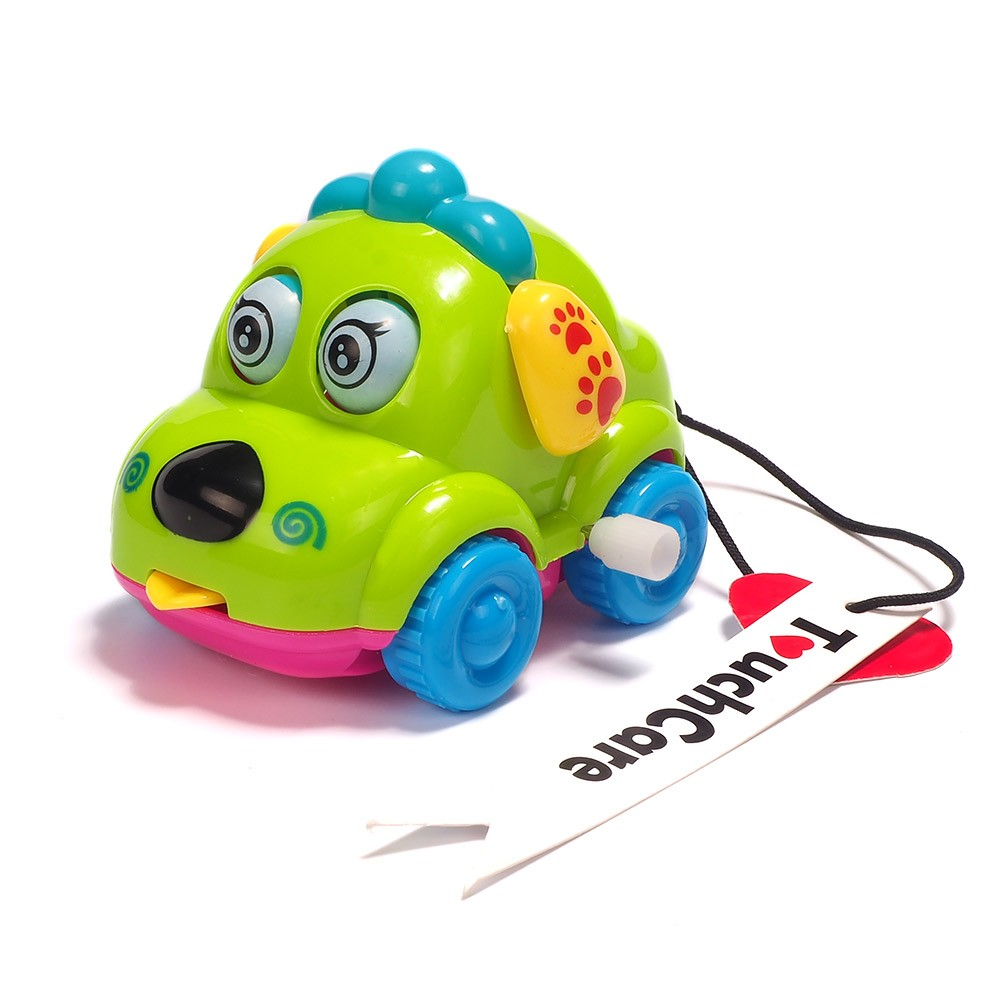 Cute Cartoon Animal Dog Wind Up Toys Running Car Clockwork Classic Toy Newborn Spring Toy Random Color 7