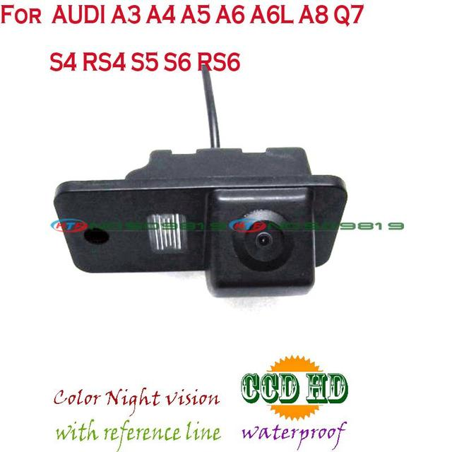 wire wireless Car Rear View Reverse backup Camera rearview parking for sony ccd AUDI A3 A4 A5 A6 A6L A8 Q7 S4 RS4 S5 S6 RS6
