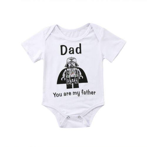 Newborn Kids Baby Boys Cartoon Star Wars Bodysuit Printed Short Sleeve O-Neck Jumpsuit Outfit Clothes 0-24M