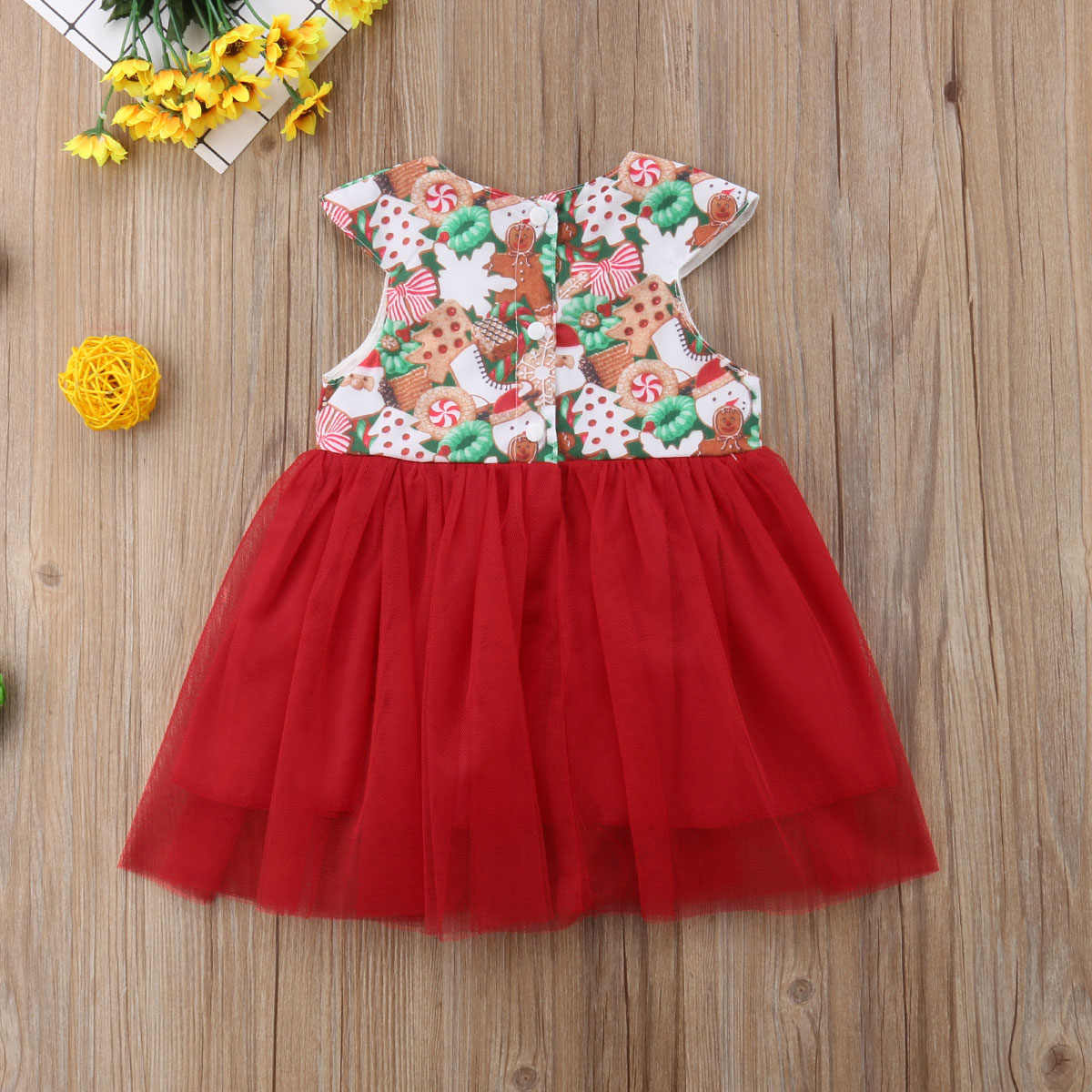 a2983b548c83b Christmas Newborn Toddler Baby Girl Sister Match Clothes Tutu Princess  Party Dress Romper Clothes Outfits