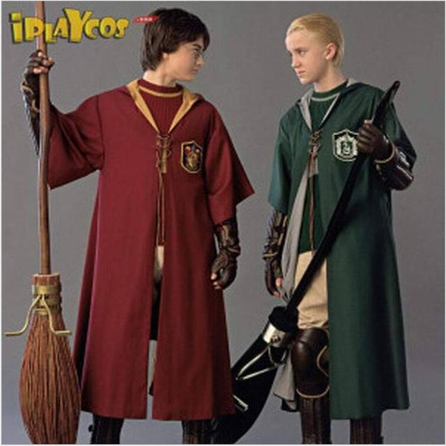 New Adult Robe Cloak Gryffindor Slytherin Quidditch costume for harry potter cosplay