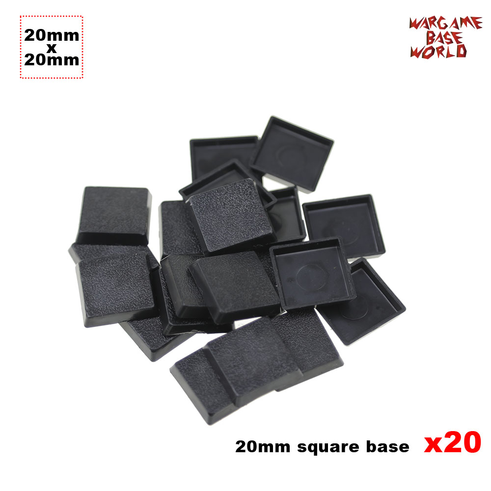 Model Bases 20 X 20 Mm Square Plastic Bases For Gaming Miniatures