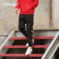 CHINISM Men's Casual Jogger Pants Black Snowflake Jeans Vaqueros Boutique Jeans Mens Biker Jeans Designer Classical Fashion