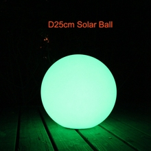 2017 New D20cm D25cm D30cm LED Solar Lamp Ball Waterproof Spot Lights Outdoor RGBW 16 Color Change for Christmas Decor 1pc